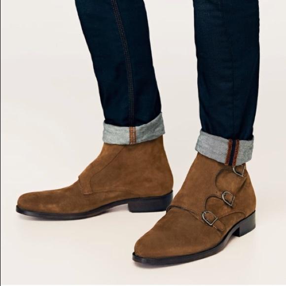 4df19b74582c6 Zara Man Suede Side Buckle Boots Sz 39 (6.5). M_5a70d2dfdaa8f67bde9c8db2